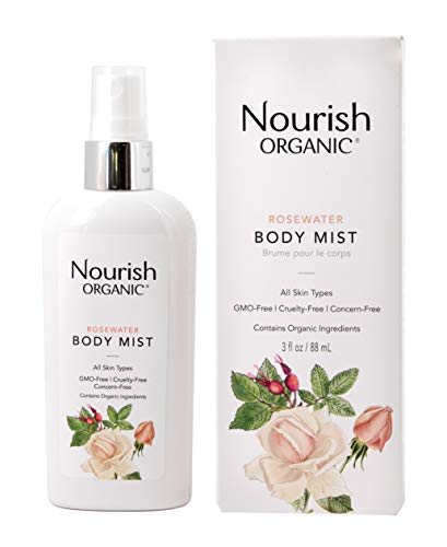 Nourish Organic Body Oil Mist Rejuvenating Rose Hip And Rosewater 3 Oz