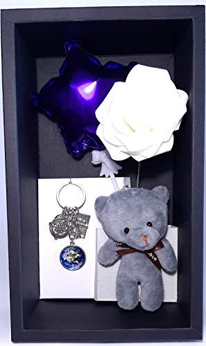 Caja de regalo Sorpresa, San Valentin, Aniversario, Cumpleaños, Toda Ocasión, Hombre Mujer y Niños! Osito de Peluche, Bonito recuerdo.
