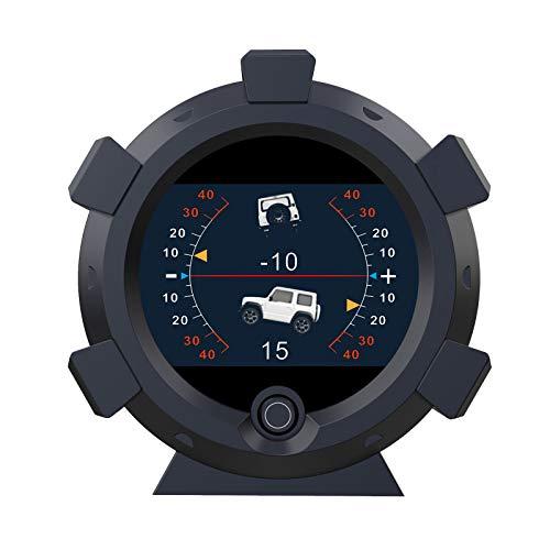 AUTOOL X95 GPS Medidor de pendiente Inclinómetro de coche Indicador de inclinación de nivel, Velocímetro GPS HUD de coche MPH Inclinómetro digital Medidor de pendiente de ángulo de coche