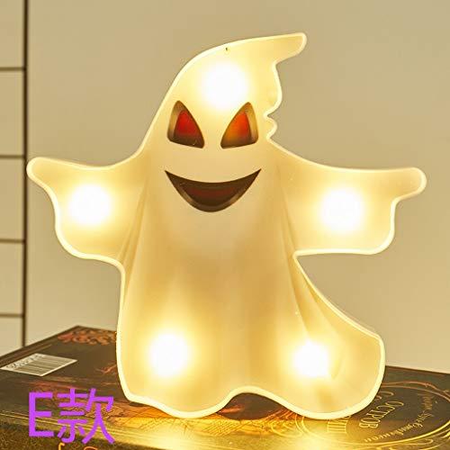 SHSH Halloween-LED-Licht, Modellierlicht, Halloween-Modellierlicht, Lichterkette, Dekoration, Nachtlicht, Kürbis-Gespenst, Nachtlicht, Wandprojekt, Heimdekoration e
