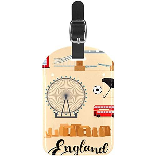 Tourist England Viaggi Londra Elementi Bagagli ID Tag Personalizzato Bagaglio Tag per Valigia DIY Stampato ID Viaggio Identificazione Etichette