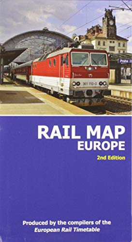Rail Map of Europe: 2nd Edition