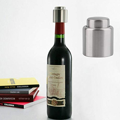 Hot Hot Reusable Stainless Steel Vacuum Sealed Wine Bottle Freshen Stopper Champagne Wine Preserver Pump Sealer Bar Stopper