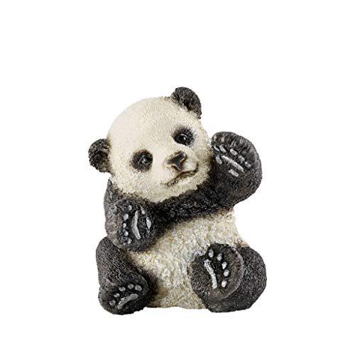Schleich Schleich-14734 Cría de Oso Panda Jugando, Negro, C