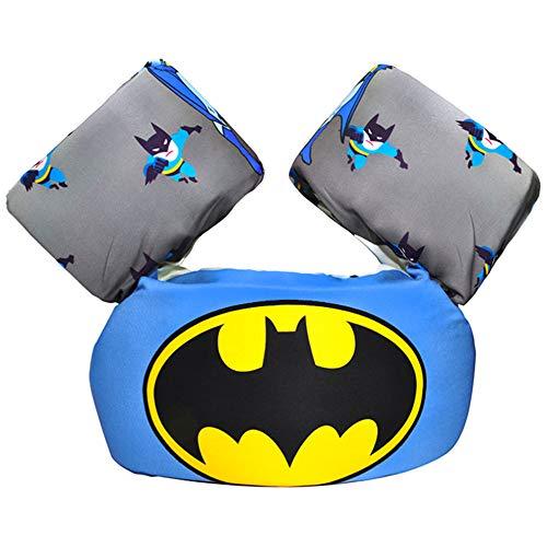 CONHENCI Toddler Floaties for Kids Swim Baby Life Jacket 30-55 lbs (Batman)