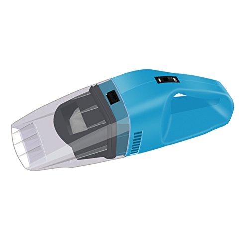 LLZXCQ Aspirateur De Voiture/2018 100 W Mini Voiture Aspirateur De Voiture Nettoyeur De Poche Portable 12 V Puissant Voiture De Nettoyage Outils Auto Aspirateur 3609, Bleu