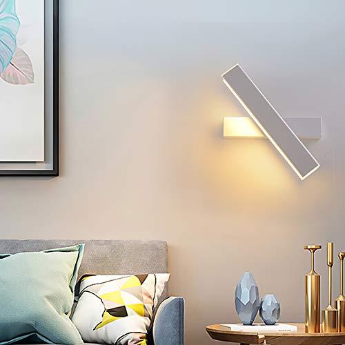 Topwor Aplique de pared interior moderno, LED lámpara de pared giratoria, 7 W, 6000 K, IP20, lámpara de pared orientable para salón, foco, entrada, escalera [Clase de eficiencia energética A++]