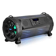 WIRELESS BLUETOOTH CONNECTIVITY: This wireless boombox speaker system features built in 2.0 Bluetooth for wireless music streaming w/ a connectivity range of up to 32' feet. Works w/ any device like iPhones, iPod, Android, iPads, Tablets, Laptops AUX...