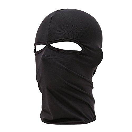 REFURBISHHOUSE Mascara de Cara Completa de la Motocicleta al Aire Libre Unisex Balaclava Pasamontanas Esqui Proteccion del Cuello, Negro
