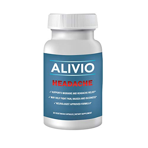 Migraine Relief and Hangover Cure Supplement, Alivio with Magnesium, Vitamin B12, Caffeine, Riboflavin, Feverfew, 100 mg, 30 Servings