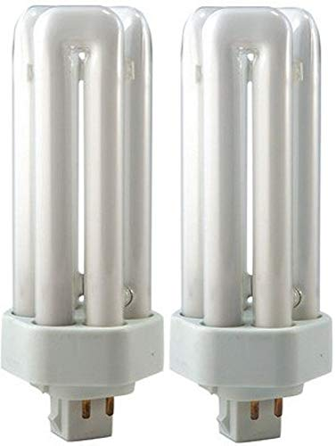 EiKO 49265 Model TT26/27 Triple-Tube Compact Fluorescent Light Bulb (Pack of 2), 26 Watts, GX24q-3 Base, T-4 Bulb, 5.2'/132mm MOL, 2.2mg Mercury Content, Solid HG Form, 1800 Approx Initial Lumens