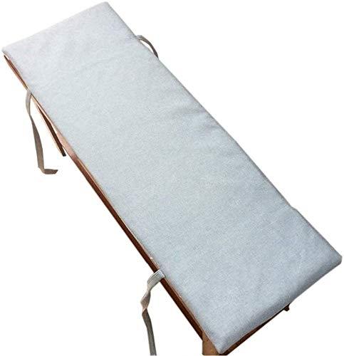 Cojín para asiento Cojín de Espuma Memoria Cojín p Banco del jardín cojín con Bridas de Fijación al aire libre del amortiguador del asiento de banco con la cremallera gruesa suave cojín del asiento fo