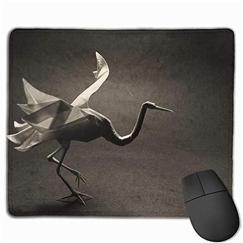 GBZlove Origami - Alfombrilla de ratón Antideslizante de Goma para Ordenador, diseño de Cisne de pájaro