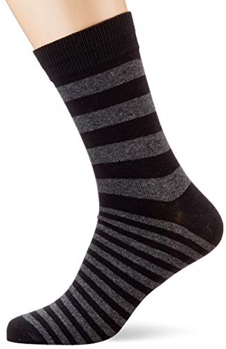 JACK & JONES Herren JACCLASSIC Stripes NOOS Socken, Schwarz (Black Black), (Herstellergröße: One Size)