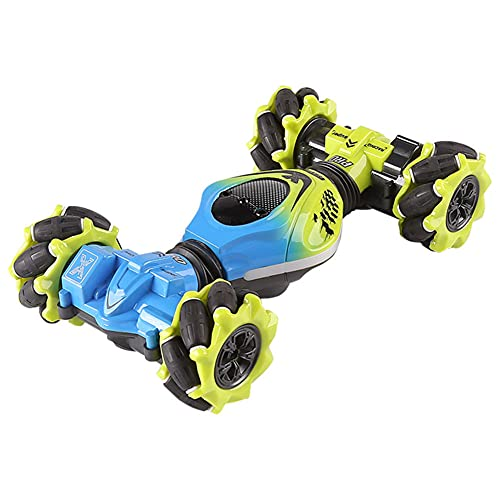 FDJLFJ Coche giratorio con control remoto 2.4G Tracción en las cuatro ruedas Coche giratorio a la deriva Giratorio de 360 ° Deformación con una tecla Doble cara Acrobacia Derrapando Coche de juguete