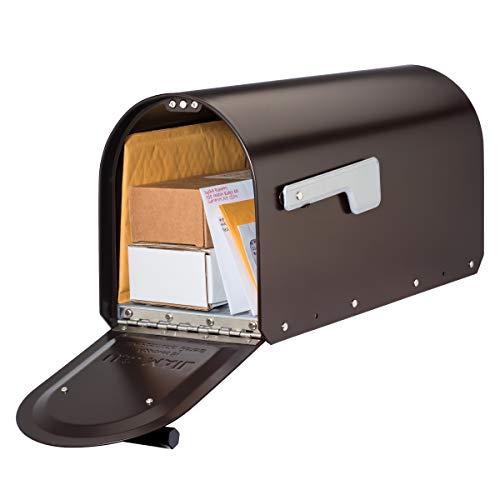 Architectural Mailboxes 5560RZ-SR Sequoia Postmount Mailbox, Medium, Rubbed Bronze
