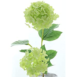 2Heads Artificial Hydrangea Ball Flowers White Snowball Flores Home Party Wedding Decor Christmas Fall Decorations Fake Flower
