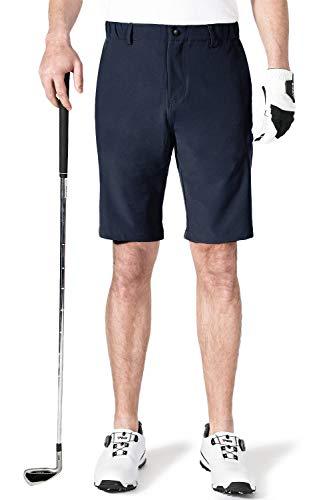 AOLI RAY Herren Golfshorts wasserdichte Dehnbar Leichte Kurze Hose Golf Shorts mit 4 Taschen Navy Taille:32