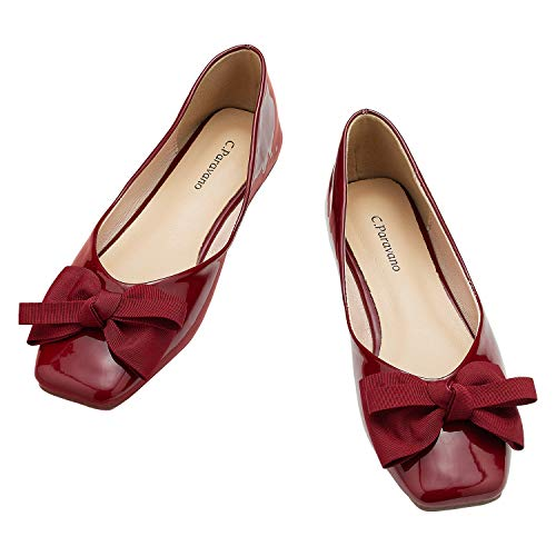Top 10 best selling list for leather square toe flat shoes