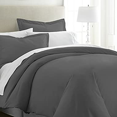 ienjoy Home Hotel Collection Soft Brushed Microfiber Duver Cover Set, Queen, Gray