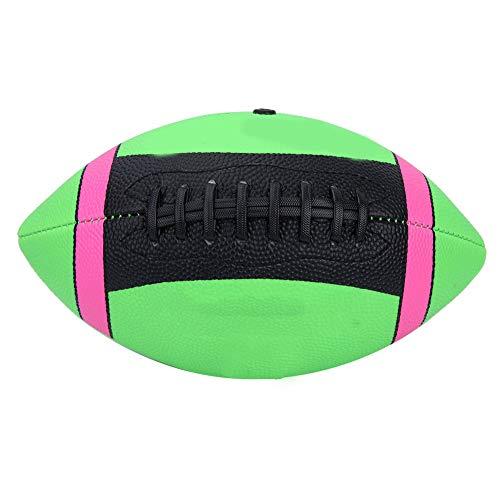 FAMKIT Rugby-Ball, Rugbyball, American Football, Training, Rugby-Ball, für drinnen und draußen, Größe 3 (grün)