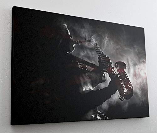 Jazz Blues Trompete Musik Instrument Leinwand Bild Wandbild Kunstdruck L0705 Größe 100 cm x 70 cm