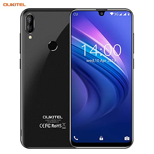OUKITEL C16 Unlocked Smartphone Android 9.0 Unlocked Cell Phones,5.7' 19:9 Infinity Display,8MP+2MP Cameras, 3G Android Phones Unlocked, Dual SIM Smartphone 2GB+16GB Fingerprint & Face Unlock