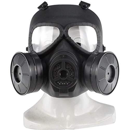 Gasmaske, Taktische Schutzmaske, Objektiv Gegen Beschlag, Cs-feld, Tactical Dummy Transparentobjektiv Mit Anti-nebel-gas-gesichtsmaske Mit Airsoft-paintball-schutzausrüstung Doppeltem Turbolüfter