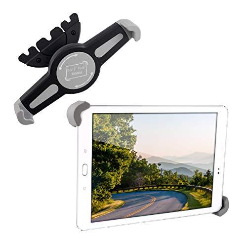 kwmobile Soporte para Tablet de 7-10.5' - Agarre de Tableta para Ranura de CD de Coche - Base en Negro