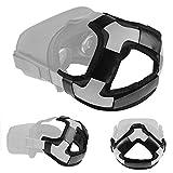 Oculus Quest 2およびQuest用のヘッドストラップパッド、快適なPUレザーヘッドクッションと頭部圧力の低減(ブラック)
