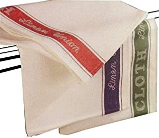 A & B TRADERS Set of 6 Linen Union Glass Cloths Tea Towels Kitchen Catering Professional