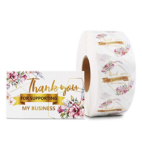 KYONANO Thank You for Supporting My Small Business Stickers 1.5