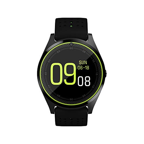 DAMAJIANGM V9 Smart Watch C¨¢Mara Tarjeta SIM Smartwatch para Android para iOS Negro y Verde