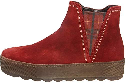 Gabor Damen Chelsea Boots 36.560, Frauen Stiefelette,Stiefel,Halbstiefel,Bootie,Schlupfstiefel,flach,d-oper(GZKaro/Mel),35 EU / 2.5 UK