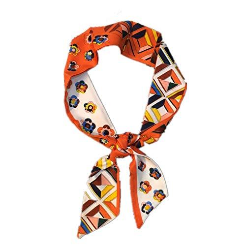 ZSWJ Schmale Streifen Kleine Seide Schals Handtasche Riemen Professionelle Schal Frauen Armband Haarband Luftschlangen 95 * 5 Cm