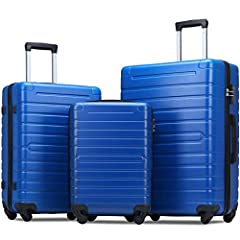 Lightweight enhanced ABS material ensures long-lasting usage and durability. Smooth 360° spinner wheels for impressive mobility and maneuverability. Top and side carrying handles available. Large storage space and fully lined interior with zippered c...