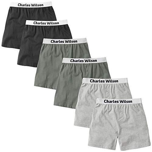 Charles Wilson Männer 6er Pack Boxer Shorts Mit Lockerer Passform (Medium, Mixed Essentials)
