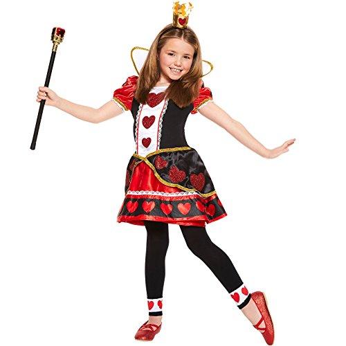 regina di cuori Vestito Bambine Fiaba Festa Del...