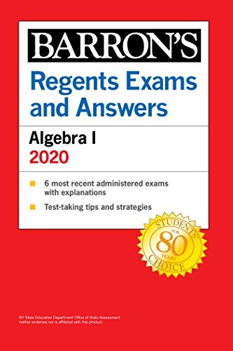 Regents Exams and Answers: Algebra I 2020 (Barron's Regents NY) (English Edition)