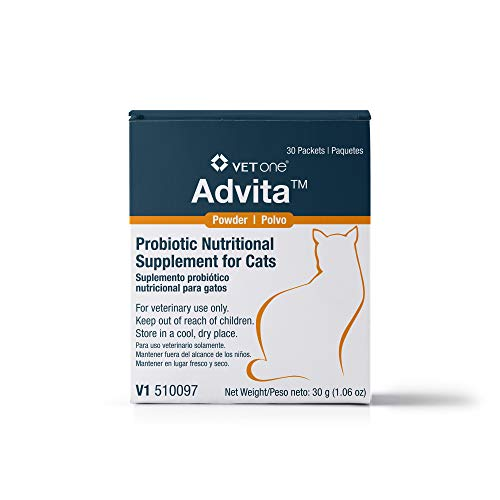 VetOne: Advita Probiotic Powder for Cats, a Daily Nutritional Supplement to Maintain Immune System, Appetite, Digestion in 30, 1g Packets