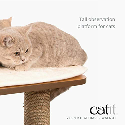 Cat Tree - Vesper Scratching Post with Condo - Walnut Furniture