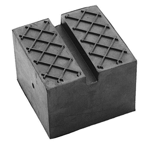 65x65x50mm Gummiauflage mit Nut & Waffeloberfläche für Wagenheber und Hebebühnen