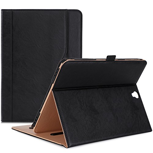ProCase Samsung Galaxy Tab S3 9.7 Case, Stand Folio Folding Case Cover for Galaxy Tab S3 Tablet (9.7 Inch, SM-T820 T825 T827), Auto Sleep Wake, with Pen Holder Document Card Pocket- Black