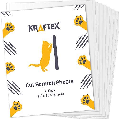 Nastro antigraffio per gatti [8 fogli] Per evitare che i gatti graffino i mobili. Protezione adesiva per mobili e divani. Nastro deterrente per gatti per divano, letto, moquette e altro