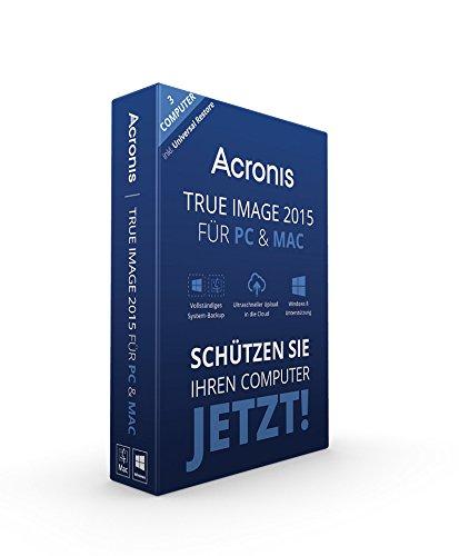 Preisvergleich Produktbild Acronis True Image 2015 für PC & Mac - 3 Computer