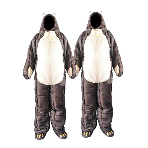 P Prettyia 2Pcs Saco de Dormir Portátil, con un Diseño Único de la Forma del Cuerpo Humano, Cómodo, Conveniente, Mantener el Calor