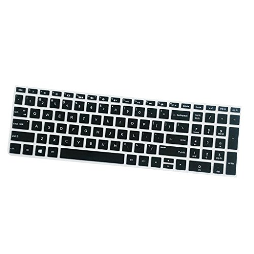 MagiDeal Silicone Desktop Keyboard Skin Cover For HP 15.6 Inch BF Laptop Black