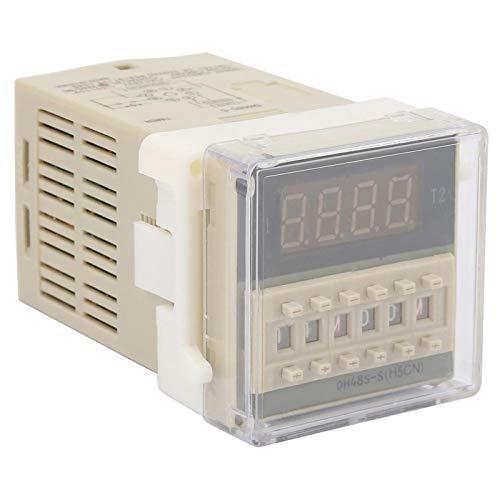 Relé de tiempo digital O111ROM Relé de tiempo de conductividad excelente Relé de retardo de tiempo Equipo eléctrico para talleres de fábrica(220VAC, pink)