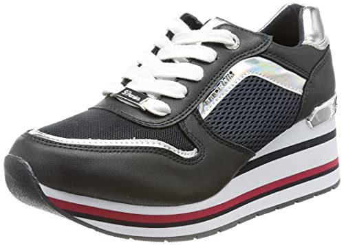 TOM TAILOR Damen 1195402 Sneaker, Navy-Silver, 41 EU