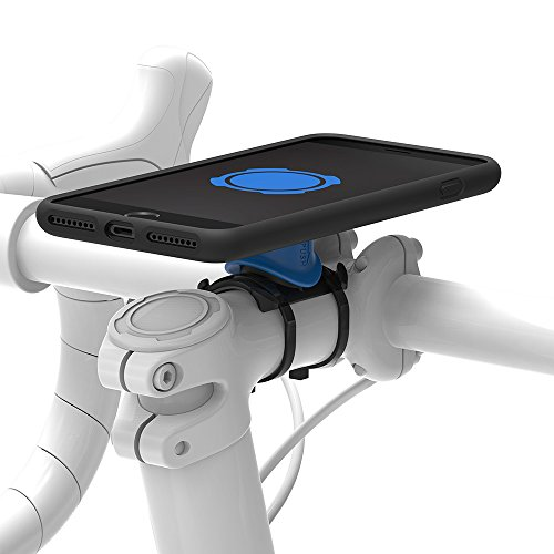 Quadlock Bike Kit Soporte de Bicicleta Iphone 7 Plus, Negro / Azul
